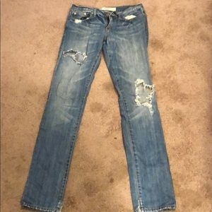 Abercrombie & Fitch Destroyed Boot Cut Jean